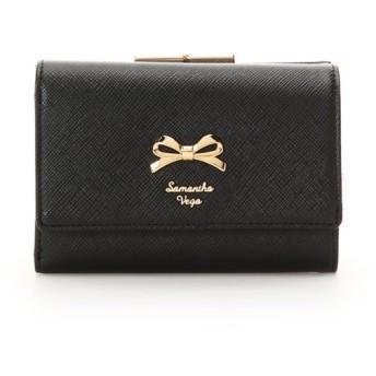 サマンサベガ シンプルリボン 折財布 レディース ブラック FREE 【Samantha Vega】
