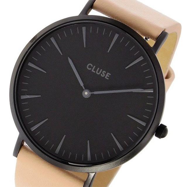クルース CLUSE ラ・ボエーム レザーベルト 38mm レディース 腕時計 CL18503 フルブラックヌード ブラック