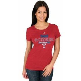 Majestic マジェスティック スポーツ用品  Majestic Texas Rangers Womens Red 2015 Postseason Participant Take October