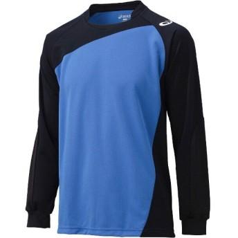 アシックス バレーボール用 ゲームシャツLS XW1322 [カラー:Iブルー×ブラック] [サイズ:O] #XW1322 ASICS