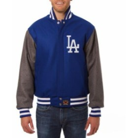 JH Design ジェイエイチ デザイン スポーツ用品  JH Design Los Angeles Dodgers Royal/Gray Two-Tone Wool Jacket