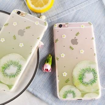 キウイ iPhone6 plus / 6s plus シリコン シェル ケース 携帯 カバー便利 落下防止 ストラップ 付き gabb