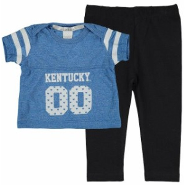 chicka-d チッカ スポーツ用品  Kentucky Wildcats chicka-d Girls Infant Royal Boxy Crop Top and Leggings Set