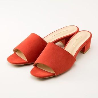ローヒールサンダル - セシール ■カラー:オレンジ ■サイズ:S(22.0-22.5cm),M(23.0-23.5cm),L(24.0-24.5cm)