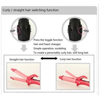 SSS-セラミックビッグウェーブカール液晶ストレートアイロン&カーリングアイロンストレートヘアセラミックヘアアイロン電気ヘアストレートヘアス
