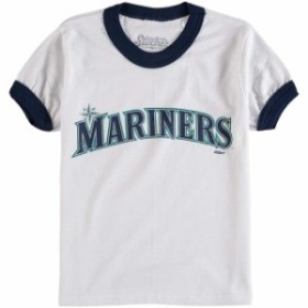 56079a5bfa7a7f Stitches スティッチ スポーツ用品 Stitches Seattle Mariners Youth White/Navy Ringer T- Shirt