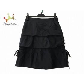 ボディドレッシングデラックス スカート サイズ38 M レディース 美品 ダークネイビー フリル   スペシャル特価 20190830