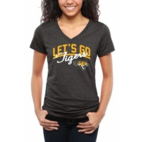 Fanatics Branded ファナティクス ブランド スポーツ用品  Towson Tigers Womens Black Lets Go Tri-Blend V-Neck T-Sh