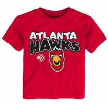 Outerstuff アウタースタッフ スポーツ用品 Atlanta Hawks Preschool & Toddler Red Bubble Letter T-Shirt