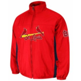 Majestic マジェスティック アウターウェア ジャケット/アウター St. Louis Cardinals Red Double Climate On-F