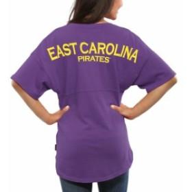 Spirit Jersey スピリット ジャージ スポーツ用品  East Carolina Pirates Womens Purple Spirit Jersey Oversized T-Shi