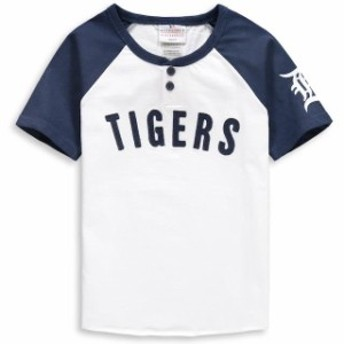 Outerstuff アウタースタッフ スポーツ用品 Detroit Tigers Youth White/Navy Game Day Jersey T-Shirt