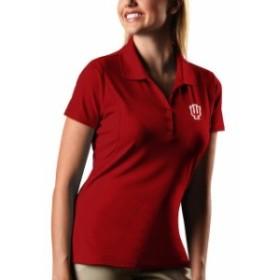 Antigua アンティグア スポーツ用品  Antigua Indiana Hoosiers Womens Crimson Pique Xtra-Lite Polo