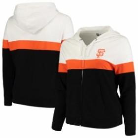 New Era ニュー エラ スポーツ用品  New Era San Francisco Giants Womens Black/White Plus Size Colorblock French Terry F