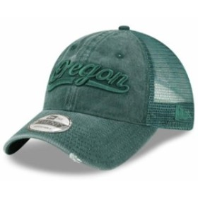New Era ニュー エラ スポーツ用品  New Era Oregon Ducks Green Tonal Washed Trucker 9TWENTY Adjustable Snapback Hat