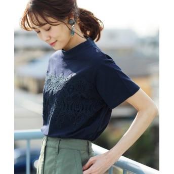 コーエン レースドッキングTシャツ レディース NAVY FREE 【coen】