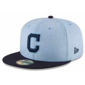 New Era ニュー エラ スポーツ用品  New Era Cleveland Indians Light Blue 2018 Fathers Day On Field 59FIFTY Fitted Hat