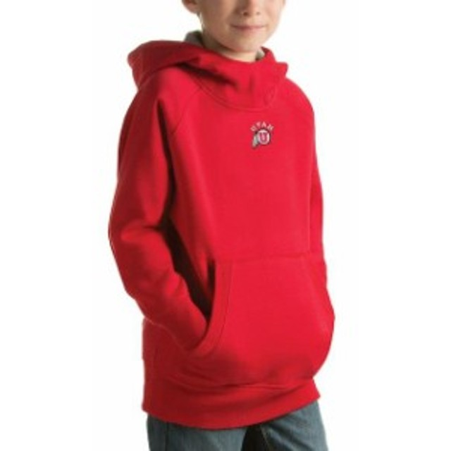 Antigua アンティグア スポーツ用品  Antigua Utah Utes Youth Red Victory Pullover Hoodie