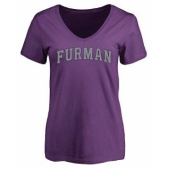 Fanatics Branded ファナティクス ブランド スポーツ用品 Furman Paladins Womens Purple Everyday T-Shirt