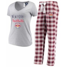 Concepts Sport コンセプト スポーツ スポーツ用品  Concepts Sport New York Red Bulls Womens Heathered Gray/Red Forg