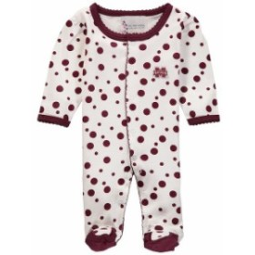 Two Feet Ahead トゥー フィート アヘッド スポーツ用品  Mississippi State Bulldogs Newborn Girls Maroon Polka Dot
