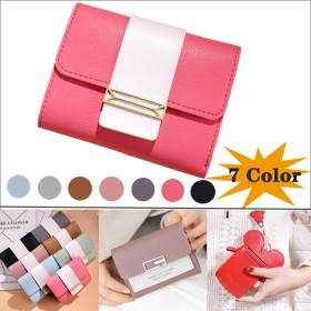 7色 財布 レディース 二つ折り ミニ財布 コインケースwalle t韓国ファッションシンプルで使い易い 財布