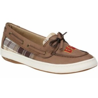 Renaissance ルネサンス スポーツ用品 USC Trojans Womens Brown Westend One Eye Moccasins