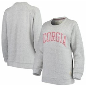 Pressbox プレス ボックス スポーツ用品  Pressbox Georgia Bulldogs Womens Gray Helena Comfy Sweatshirt