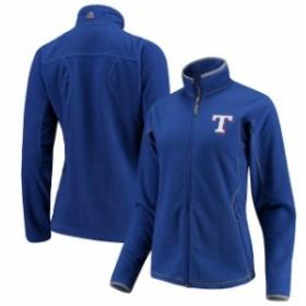 Antigua アンティグア アウターウェア ジャケット/アウター Antigua Texas Rangers Royal Womens Ice Full Zip Ja