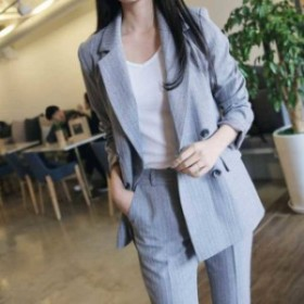 韓國 スーツ ファッション レディース レディス セットアップ パンツスーツ フォーマル オルチャン 080013