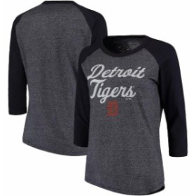 Majestic Threads マジェスティック スレッド スポーツ用品  Majestic Threads Detroit Tigers Womens Navy 3/4-Sleev