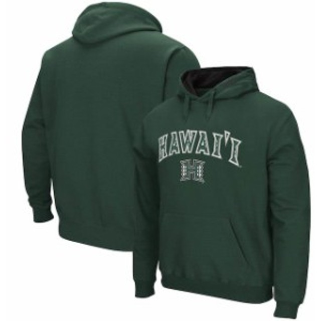 Colosseum コロセウム スポーツ用品  Colosseum Hawaii Warriors Green Arch & Logo Pullover Hoodie