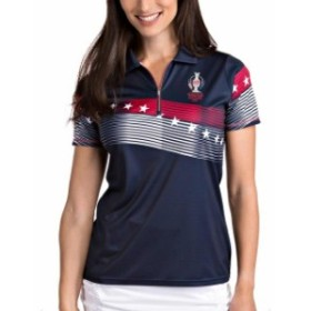 Antigua アンティグア シャツ ポロシャツ Antigua 2019 Solheim Cup Womens Navy/Red Patriot Polo