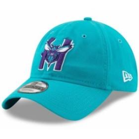 New Era ニュー エラ スポーツ用品  New Era Charlotte Hornets Aqua Team Logo Back Half Series 9TWENTY Adjustable Hat