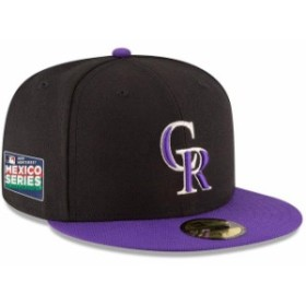 New Era ニュー エラ スポーツ用品  New Era Colorado Rockies Black/Purple 2019 Mexico Series Authentic Collection 59FIF