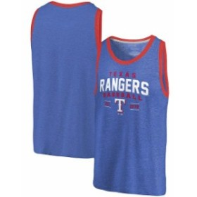 Fanatics Branded ファナティクス ブランド 服 タンクトップ Fanatics Branded Texas Rangers Royal/Red Ringer Tri-B