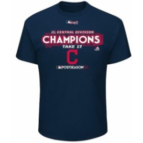 Majestic マジェスティック スポーツ用品  Majestic Cleveland Indians Navy 2017 AL Central Division Champions Locker