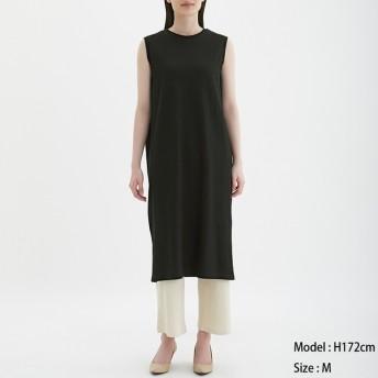 (GU)Iラインワンピース(ノースリーブ) BLACK XL