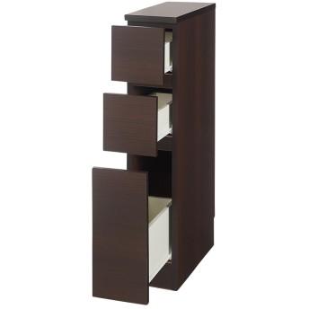 1cmピッチで幅が選べるキッチンすき間収納庫 ロータイプ高さ85cm 引き出しタイプ 【幅15〜29cm】ホワイト15