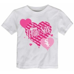 Outerstuff アウタースタッフ スポーツ用品  Chicago White Sox Girls Toddler White Bubbly Luv T-Shirt