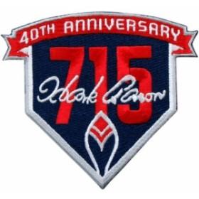 Emblem Source エンブレム ソース スポーツ用品  Hank Aaron Atlanta Braves 3.5 x 4 715th Home Run 40th Anniversary Mi