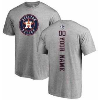 Fanatics Branded ファナティクス ブランド スポーツ用品 Houston Astros Ash Personalized Backer T-Shirt