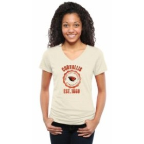 Fanatics Branded ファナティクス ブランド スポーツ用品  Oregon State Beavers Womens Old-School Seal Tri-Blend V-