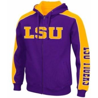 Colosseum コロセウム スポーツ用品 Colosseum LSU Tigers Purple Big & Tall Thriller II Full-Zip Hoodie