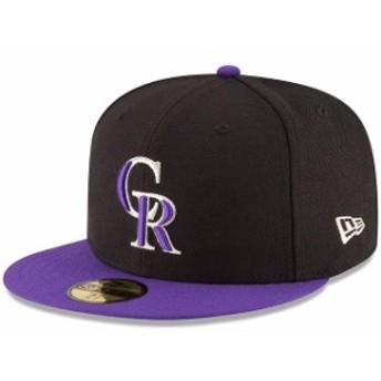 New Era ニュー エラ スポーツ用品 New Era Colorado Rockies Black/Purple Authentic Collection On Field 59FIFTY Structu