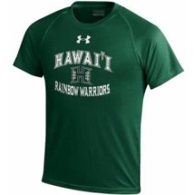 Under Armour アンダー アーマー スポーツ用品  Under Armour Hawaii Warriors Youth Hunter Green Nu Tech T-Shirt