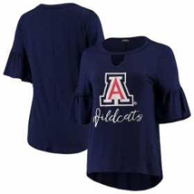 Gameday Couture ゲームデイ コーチャー スポーツ用品  Arizona Wildcats Womens Navy Ruffle and Ready Keyhole Tri-Bl