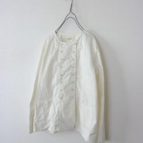 ダブルボタンシャツジャケット(アイボリー)