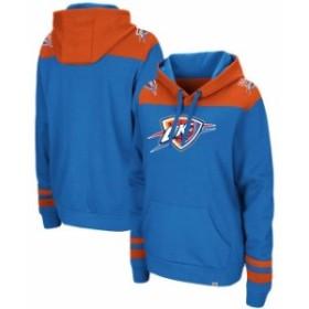 Majestic マジェスティック スポーツ用品  Majestic Oklahoma City Thunder Blue/Orange Triple Double Pullover Hoodie