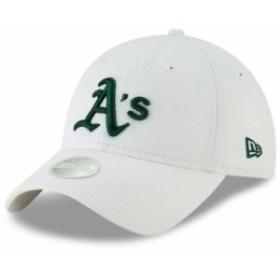 New Era ニュー エラ スポーツ用品  New Era Oakland Athletics Womens White Core Classic 9TWENTY Adjustable Hat